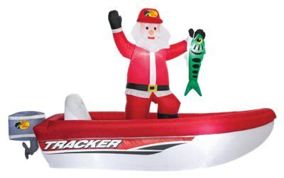 blow up santa in a boat bass pro shops inflatable santa in tracker boat bass pro