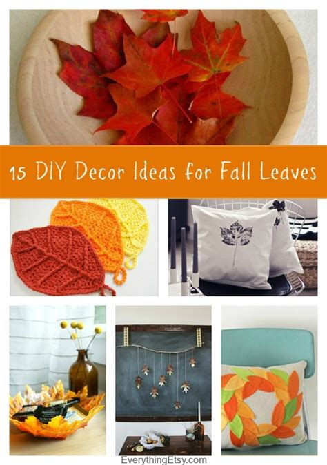 15 diy decor ideas for fall leaves everythingetsy