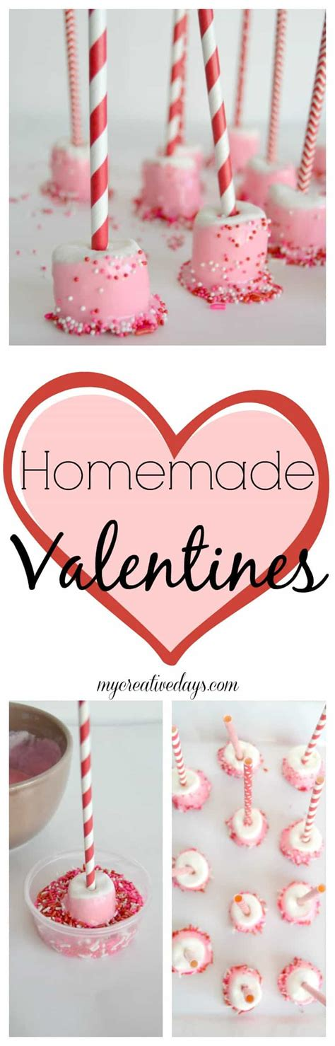 home made valentines valentines marshmallow treat gifts my creative