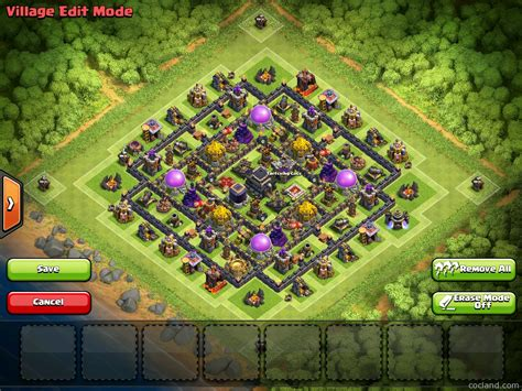 coc layout new update farming lady