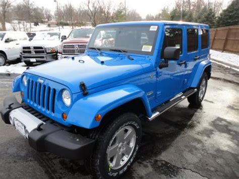 royal blue jeep new 2011 jeep wrangler unlimited sahara 4x4 for sale