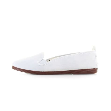 white flat shoes for womens flossy mijas white casual plimsolls flat canvas