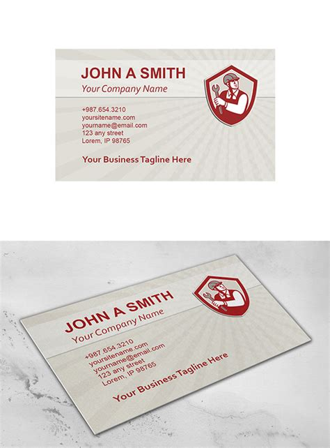 card template mechanic business card template mechanic hold business card