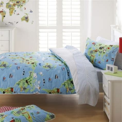 adairs coverlets adairs kids boys harry s world map quilt covers