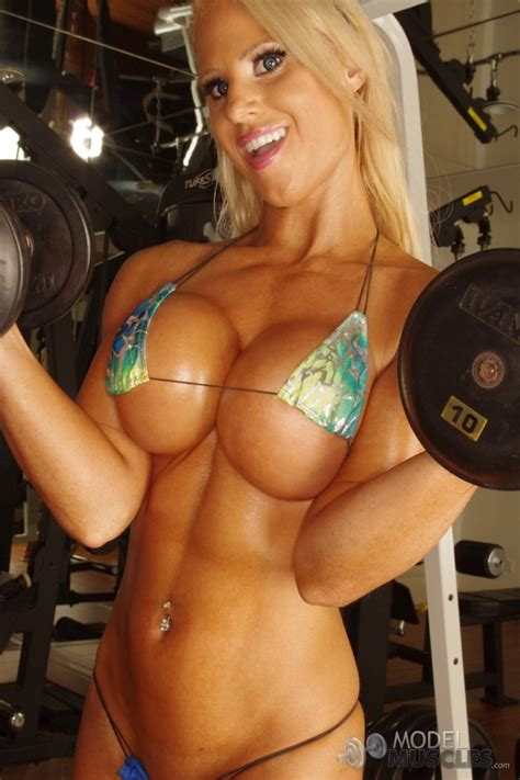 Super Fit Babe Megan Avalon Working Out Naked Of