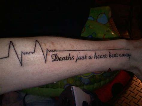 heart beat rate tattoo deaths just a heart beat away tattoo
