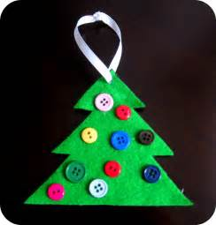 button christmas tree ornament cute simple hands on