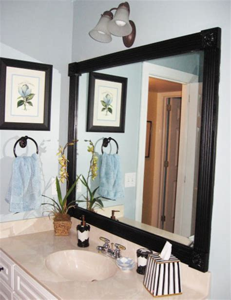 diy bathroom mirror frame ideas diy decorating ideas thrifty thursday 5