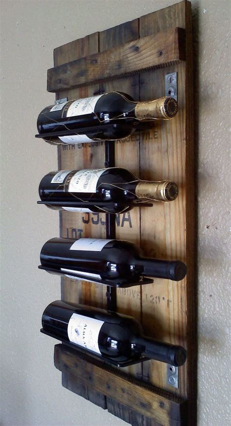 Wall Wine Rack by Wall Wine Rack Made From Blue Stained Pine Mid
