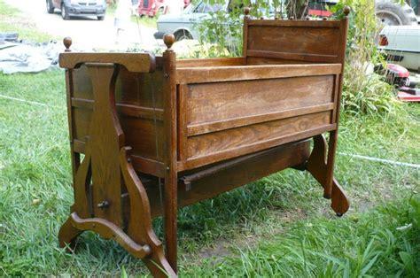 baby rocking cribs antique rocking baby crib wooden cradle w wind