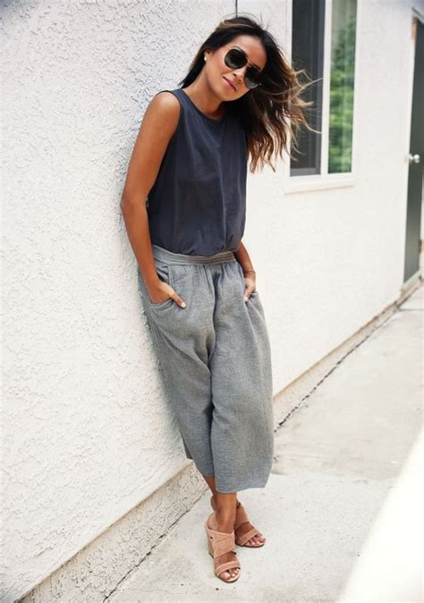 Biwlansa Plain Casual Culottes casual tenue and 201 t 233 on