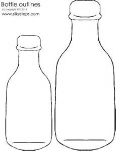 bottle template message in a bottle outline cliparts co
