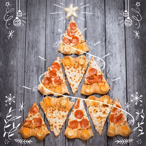 christmas tree pizza gifs find share  giphy