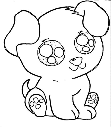 coloring pages with cute puppies coloring home