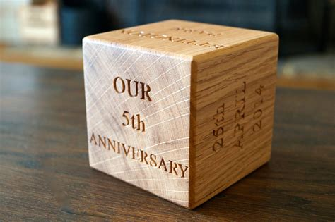 gift for 5th wedding anniversary wooden gift ideas make me