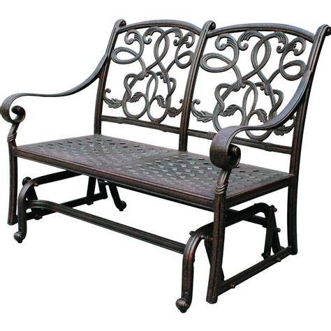 Loveseat Glider Outdoor darlee santa cast aluminum patio loveseat glider ultimate patio