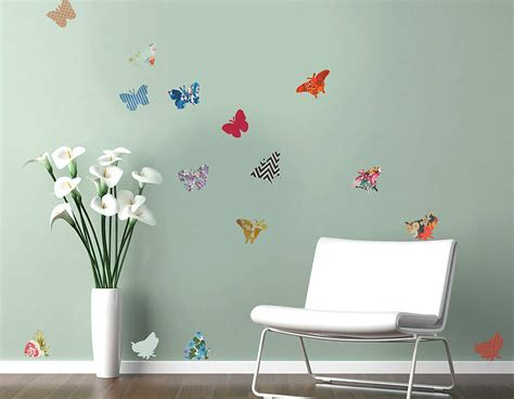 vinyl wall decals vintage butterfly vinyl wall stickers contemporary