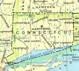connecticut outline maps and map links