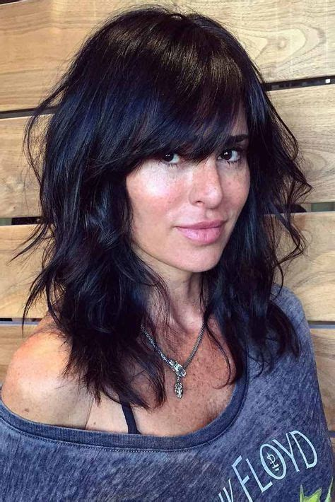 Medium Hairstyles For 50 With Bangs by Medium Length Hairstyles With Bangs For 50