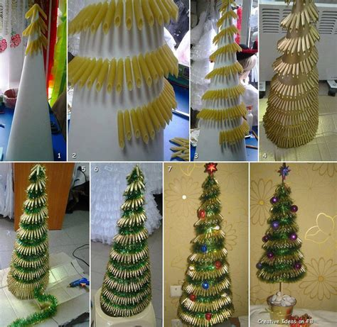 macaroni christmas tree pasta tree diy projects usefuldiy