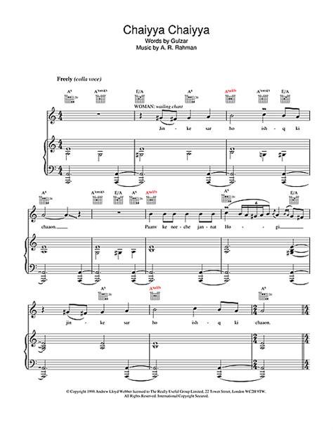 ar rahman chaiyya chaiyya mp3 download partition piano chaiyya chaiyya de a r rahman piano