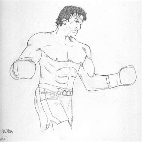 rocky balboa free colouring pages