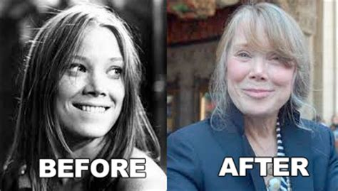 sissy before and after celebrity cosmetic surgery photos sissy spacek nose job
