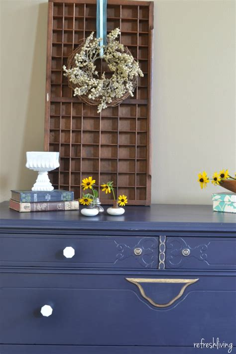 blue dresser gold hardware coastal blue dresser with quot sweet quot accents refresh living