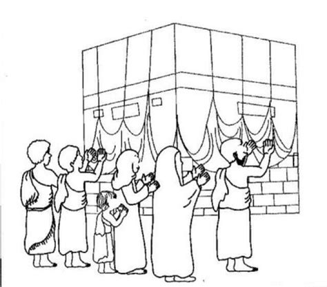 Hajj Coloring Pages 37 best images about islam malbuch on for