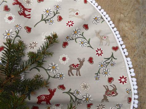 swedish fabric christmas tree skirt nordic christmas swedish