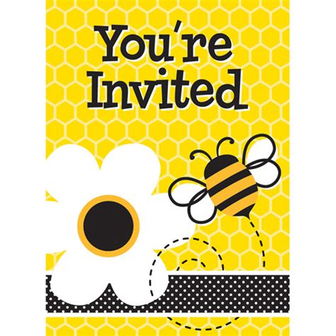 Invitation Letter For Quiz Bee Bumble Bee Invitations 8pk Walmart