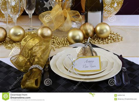 new year restaurant decorations new years dinner table setting stock image image of