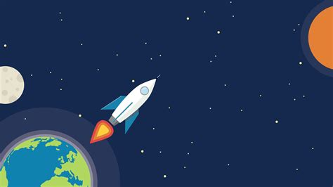 minimalist space earth rocket minimalism artist hd 4k wallpapers