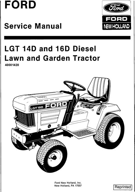 Ford LGT14d, LGT16d Diesel Lawn and Garden Tractor with