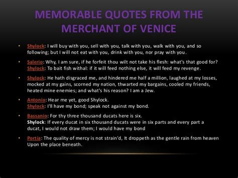 the merchant of venice quotes shylock