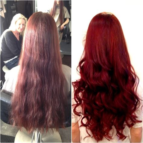 cut before dye hair before and after scarlet red yelp