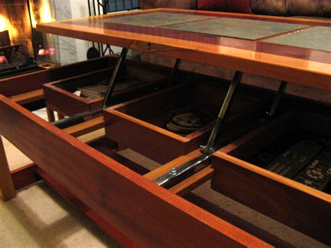 coffee table with built in tv tray table designs