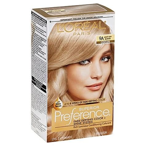 superior preference fade resistant conditioning colorant level 3 permanent buy l or 233 al 174 superior preference fade defying color and shine in 9a light ash from bed