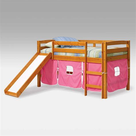 toddler slide bed loft beds with slide for kids