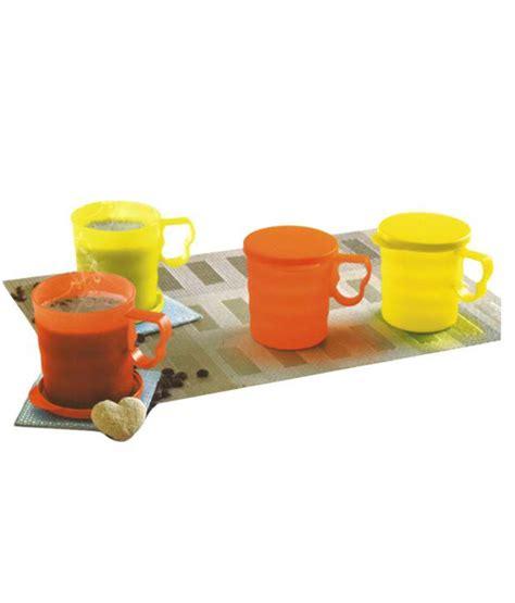 Clear Mug Tupperware 4 tupperware multi plastic caribbean mugs set of 4 buy