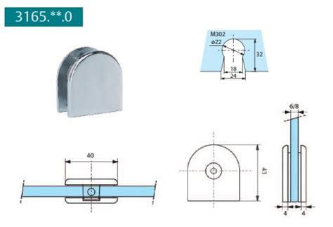 fixation pour paroi de patte de fixation pour paroi fixe de ref str 3165 30 0 stremler 36 00