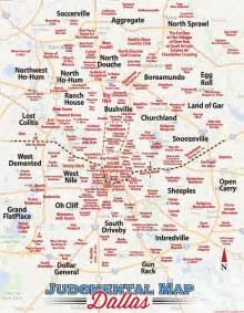 Judgemental Map Judgmental Map Of Dallas D Magazine