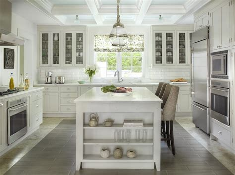 Replacement Oak Kitchen Cabinet Doors kitchen with coffered ceiling transitional kitchen