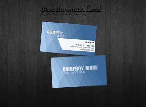 Blue Business Card Template ucreative 35 quality business card design templates for free ucreative