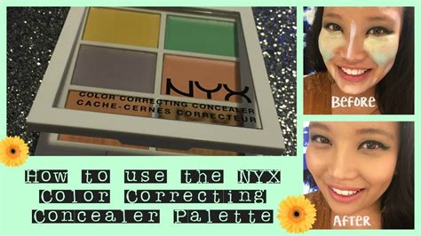 Nyx Color Correcting Concealer Palette how to use the nyx color correcting concealer palette