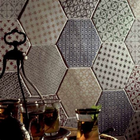 Fliese Hexagon by Boden Und Wandfliesen Cuisine Mural Hexagon Marrakech
