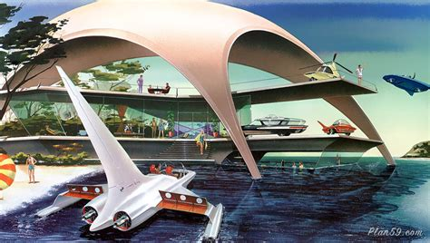 my next home plan59 20th century illustration house of the future