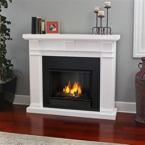 portable fireplace real flame porter ventless gel fireplace white