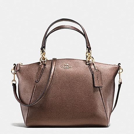 Coach Kelsey Small Gunmetal Original coach f56127 small kelsey satchel in metallic leather