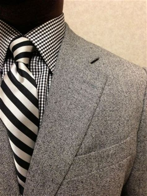 pattern shirt with dark gray suit men s monochromatic fashion famous outfits